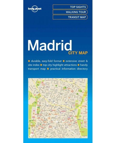 Lonely Planet Madrid city Map (Paperback) - image 1 of 1