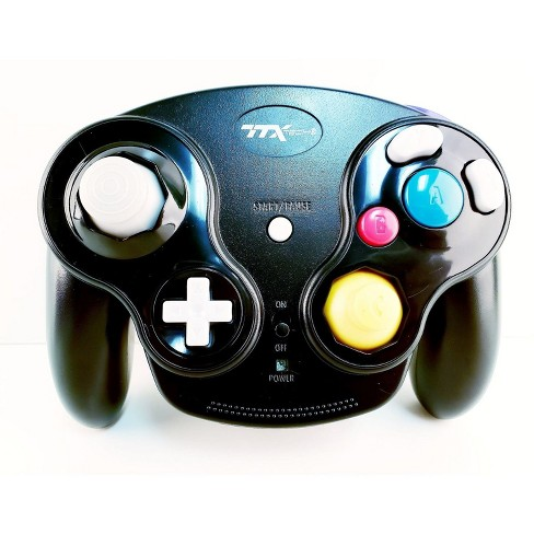 TTX Tech GC Wireless Wavedash 2.4GHZ Controller Gamepad Compatible with Nintendo GameCube - Black - image 1 of 1