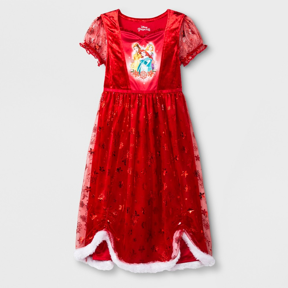 Girls' Disney Princess Fantasy Nightgown - Red S