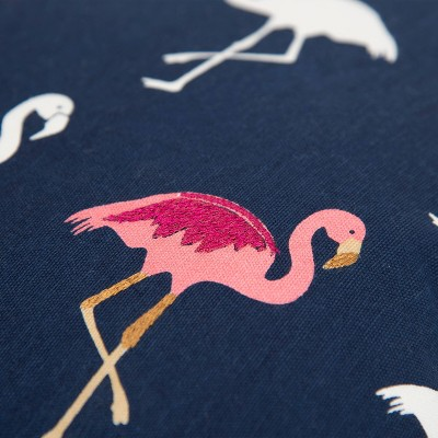 Flamingos Poly Filled Pillow Navy - Rizzy Home : Target