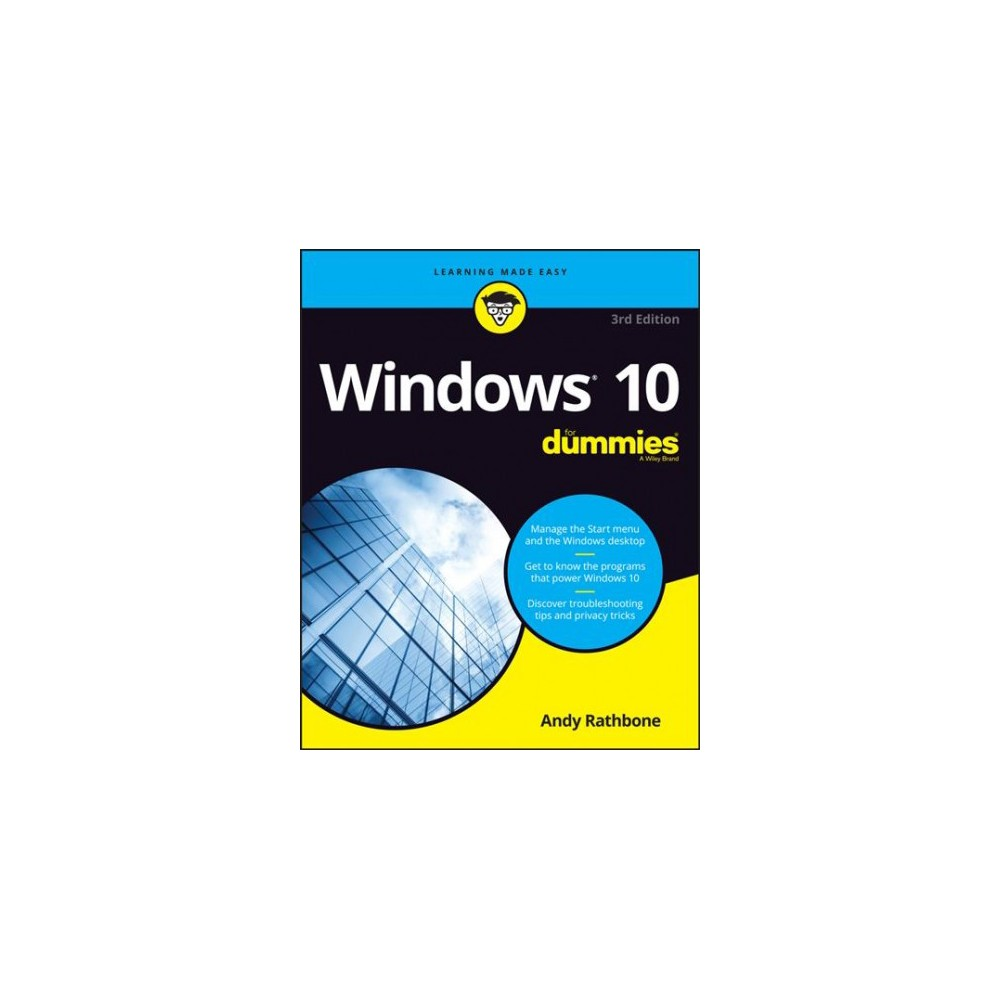 Windows 10 for Dummies - 3 (For Dummies (Computer/Tech)) by Andy Rathbone (Paperback)