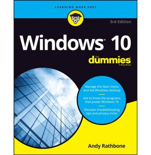 Windows 10 for Dummies -  3 (For Dummies (Computer/Tech)) by Andy Rathbone (Paperback) - image 1 of 1