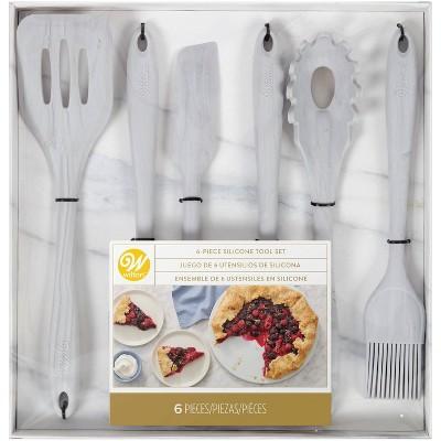 Wilton 6pc Marble Silicone Kitchen Utensil Set