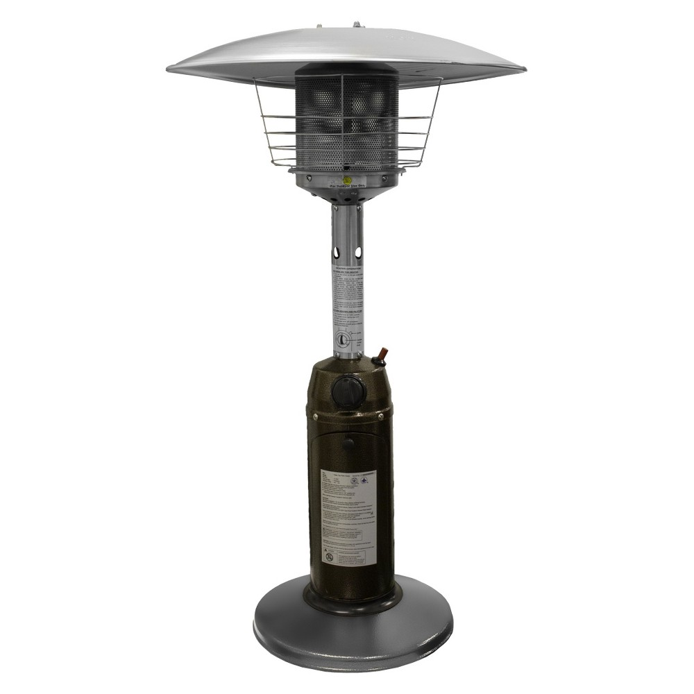 Garden Sun Tabletop Patio Heater - Hammered Bronze and Stainless Steel, Ssgld
