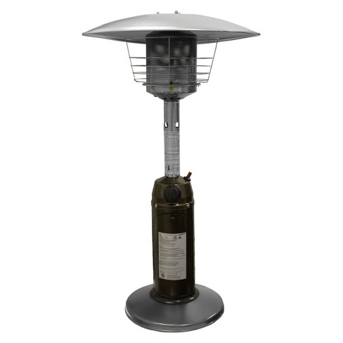 About this item - Garden Sun Tabletop Patio Heater - Hammered Bronze And Stainless Steel