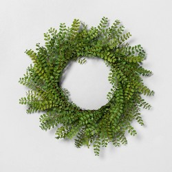 "20"" Faux Locust Green Wreath - Hearth & Hand™ with Magnolia"