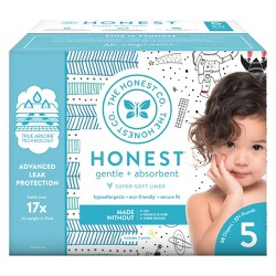 The Honest Company Disposable Diapers Teal Tribal & Space Travel - Size 5 - 50ct