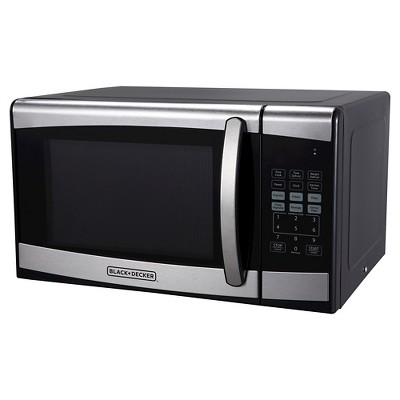 BLACK+DECKER 0.9 cu ft 900W Microwave Oven - Stainless Steel EM925AZE-P