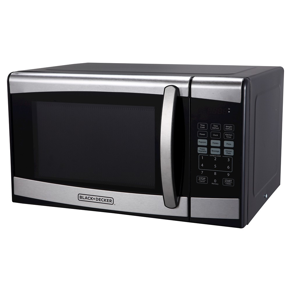 Black+decker 0.9 cu ft 900W Microwave Oven – Stainless Steel EM925AZE-P 50577487