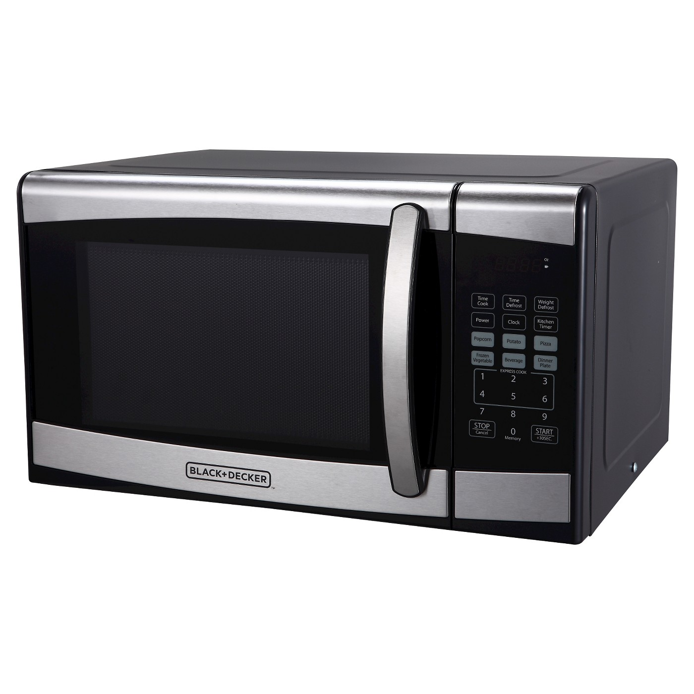 BLACK+DECKER 0.9 cu ft 900W Microwave Oven - Stainless Steel EM925AZE-P - image 1 of 5