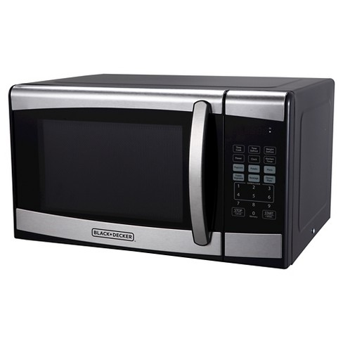 Black Decker 0 9 Cu Ft 900w Microwave Oven Stainless Steel Em925aze P