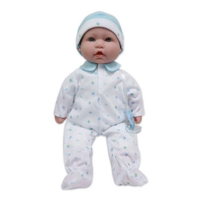 "JC Toys La Baby 16"" Baby Doll - Blue Outfit with Pacifier"