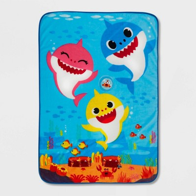 Baby Shark Toddler Musical Coral Plush Blanket