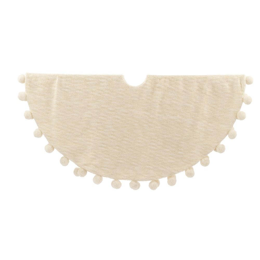 Pom Pom Christmas Tree Skirt Ivory - Wondershop