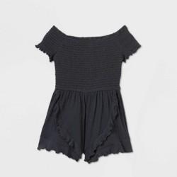 Girls' Smocked Knit Romper - art class™