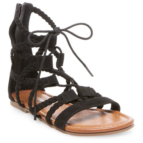 Girls' Natoma Braided Ghillie Sandals Cat & Jack™ - Black 1 - image 1 of 3