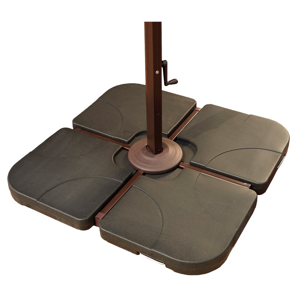 Image of Island Umbrella 4 - 35 lb Resin Cross-Arm Umbrella Base Weights - Black