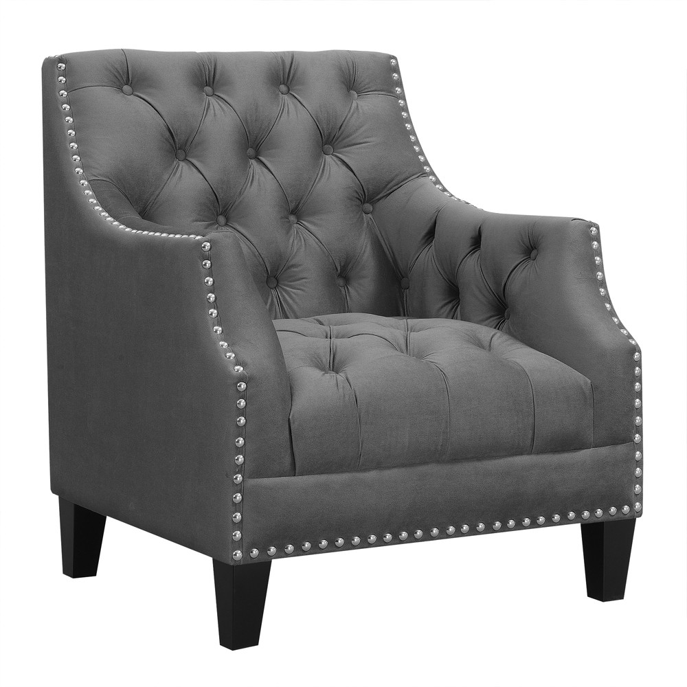 Perry Accent Chair Charcoal (Grey) - Picket House Furnishings