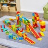 ECR4Kids Train Station Interlocking Waffle Blocks Building Set, STEM Toy for Kids, 433 Piece - Assorted - image 3 of 4