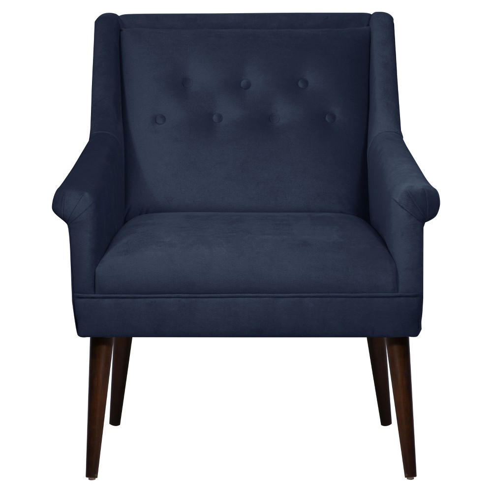 Button Tufted Chair in Mystere Eclipse - Skyline Furniture