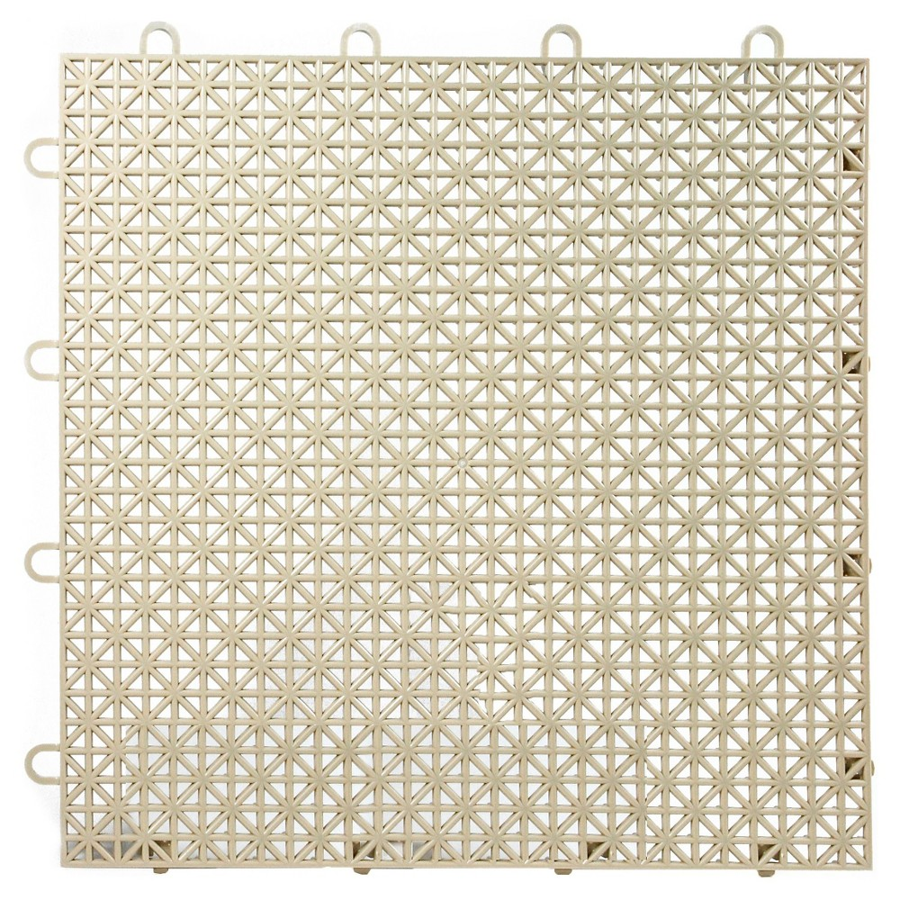 "Image of ""12""""x12"""" Armadillo Floor Tile 9 Pack - Buckskin Beige"""