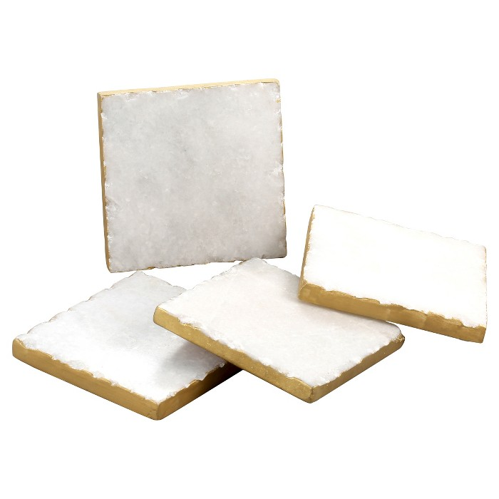 Thirstystone Marble Coasters Set of 4 - Gold - image 1 of 1