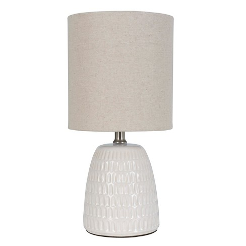 Textured Ceramic Table Lamp Natural Includes Energy Efficient Light
