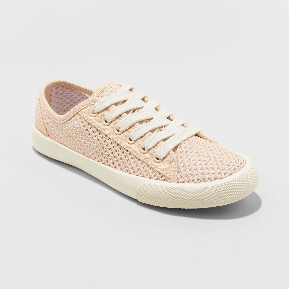 Women's Lara Canvas Mesh Sneakers - Universal Thread Tan 7