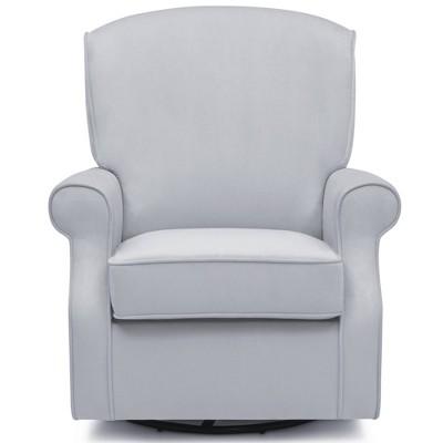 Delta Children Oakley Nursery Glider Swivel Rocker Chair - Dolphin Gray