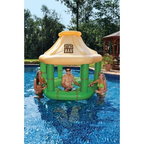 Swimline Swimming Pool Party Inflatable Floating Tiki Swim Up Bar ...