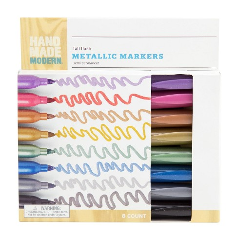 Metallic Markers 8ct Fall Flash - Hand Made Modern - image 1 of 2