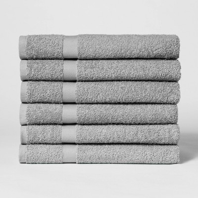 6pk Bath Towel Set Gray Mist - Room Essentials™