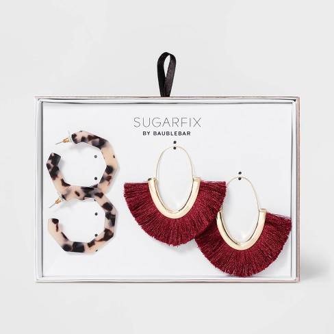 SUGARFIX by BaubleBar Mixed Media Hoop Earring Gift Set - image 1 of 3