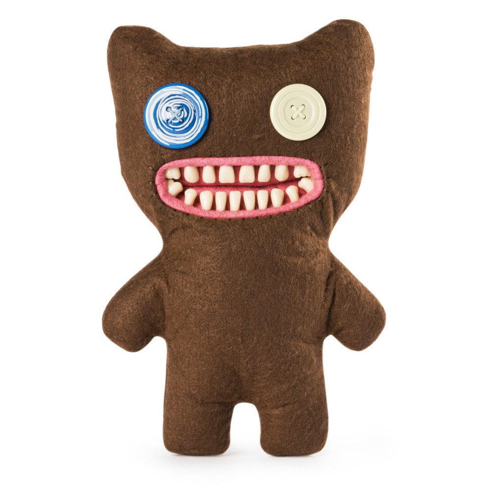 Fuggler Funny Ugly Monster, 9 Mr. Buttons Plush Creature with Teeth - Brown