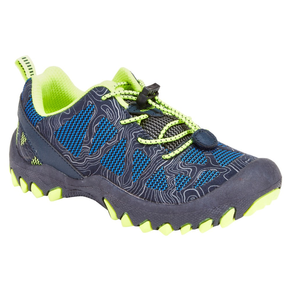 M.A.P. Toddler Boys' Troy Sneakers - Navy (Blue)/Neon 1