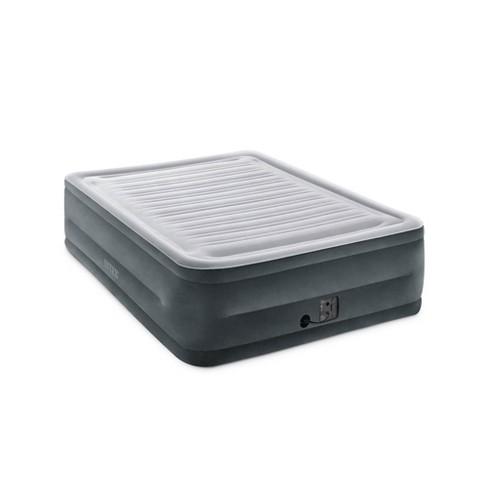 Intex Comfort Plush High Rise Dura Beam Air Bed Mattress w/ Built-In Pump, Queen - image 1 of 4