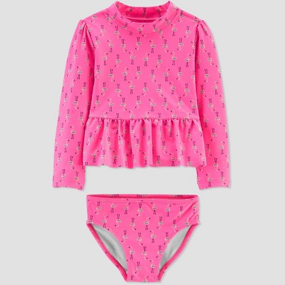 Baby Girls' Flamingo Swim Rash Guard Set - Just One You® made by carter's Pink 6M