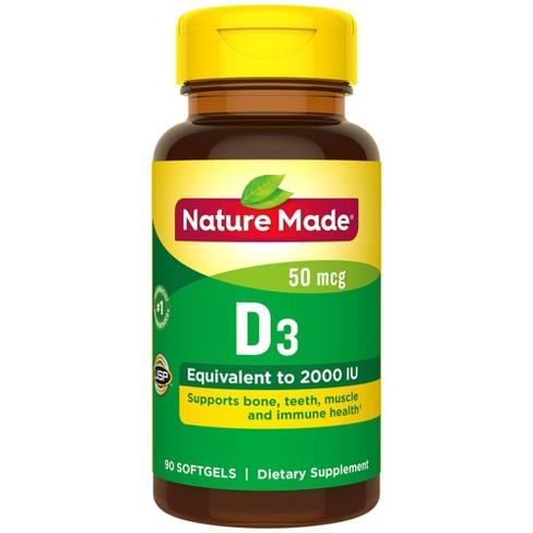 Nature Made Vitamin D3 2000 IU (50 mcg) Softgels - 90ct - image 1 of 3