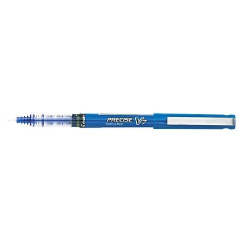 Pilot Precise V7 Roller Ball Stick Pen, Needle Point, 0.7mm Fine - Blue Ink (12 Per Pack) - image 1 of 1