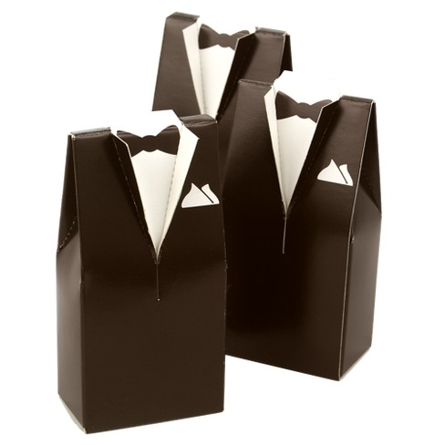 25ct Brown Tuxedo Favor Boxes - image 1 of 2