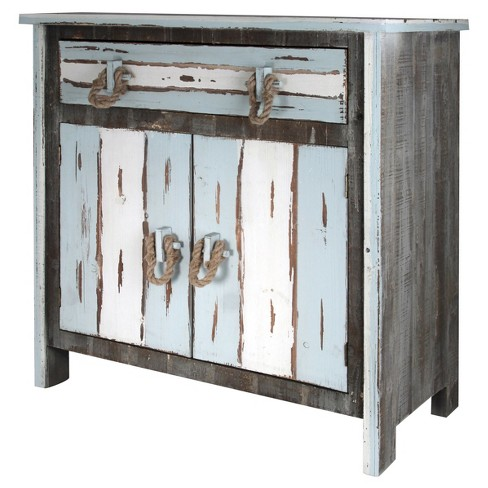 2 Door Distressed Wood Cabinet with 1 Drawer - Distressed Gray - Stylecraft - image 1 of 1