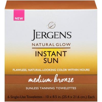 Jergens Natural Glow Instant Sun Towelette - Medium Bronze - 6ct