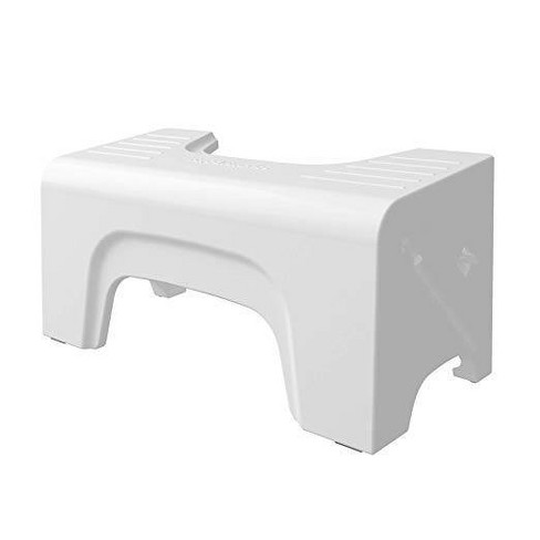 "7"" Fold-N-Stow Foldable Toilet Stool White - Squatty Potty - image 1 of 4"