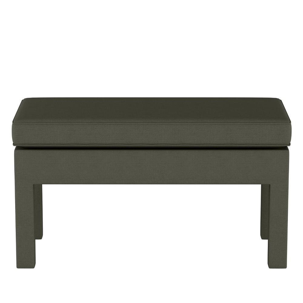 Upholstered Bench in Linen Slate Gray - Threshold