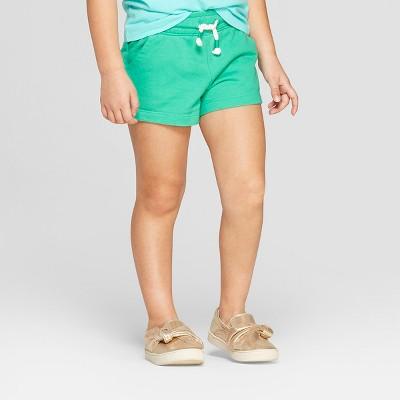 Toddler Girls' Straight Pull-On Shorts - Cat & Jack™ Green 12M