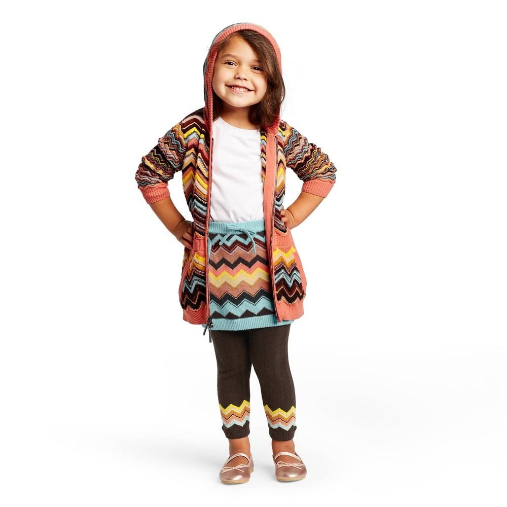 Image of Toddler Girls' Colore Zig Zag Mid-Rise Sweater Mini Skirt - Missoni for Target 12M, Women's, Blue