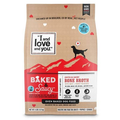 I and Love and You Baked & Saucy Grain Free with Beef & Sweet Potatoes Holistic Dry Dog Food