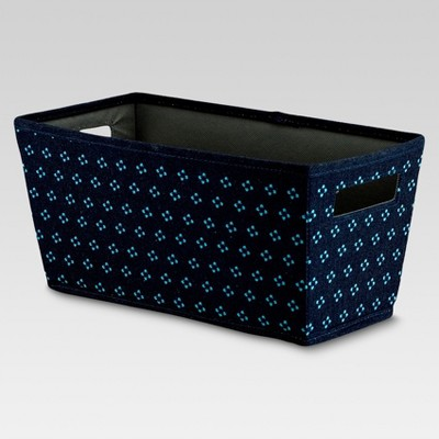 Fabric Quarter Bin - Navy Geometric - Threshold™