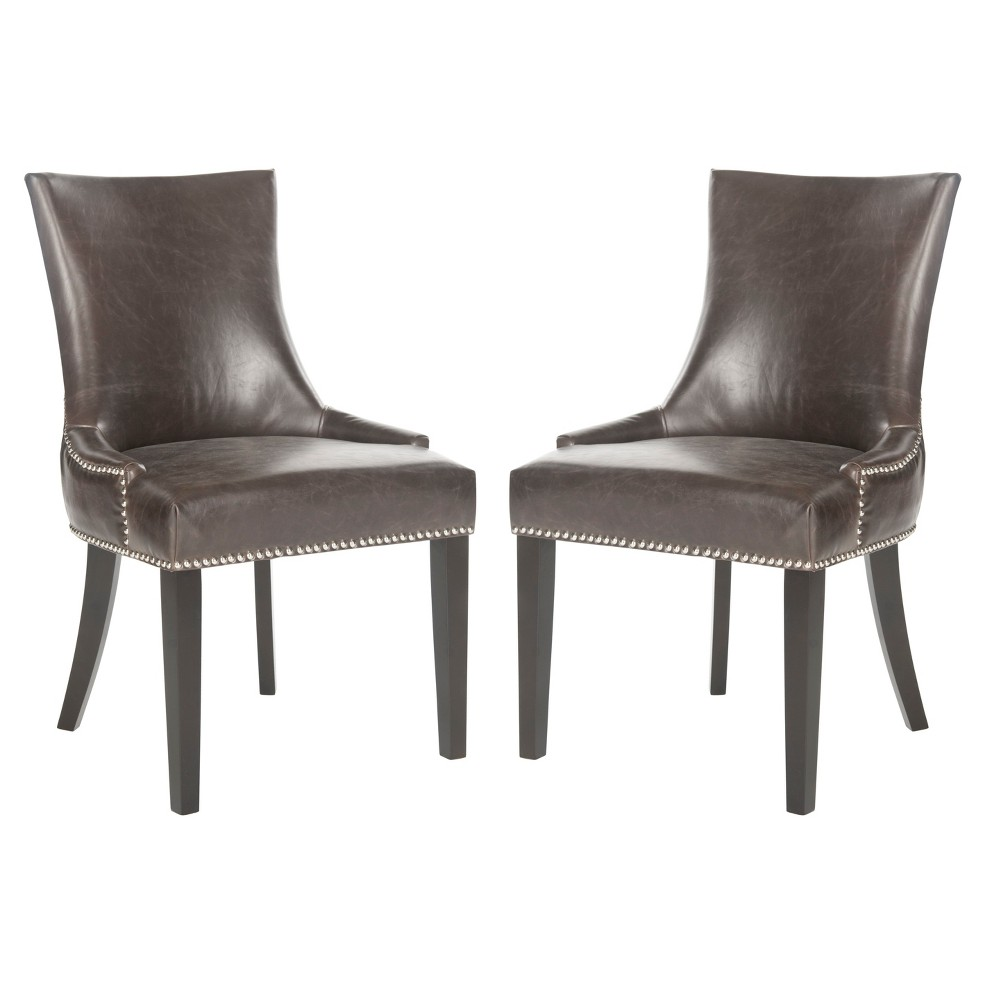 Lester Dining Chair - Brown (Set of 2) - Safavieh