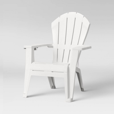 Deluxe RealComfort Outdoor Adirondack Chair White - Adams Manufacturing
